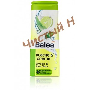 Balea Dusche Creme Limette & Aloe Vera 300 ml.Гель для душа Германия