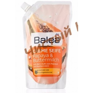 Balea жидкое крем-мыло  Papaya & Buttermilch, запаска (500 ml.) Германия