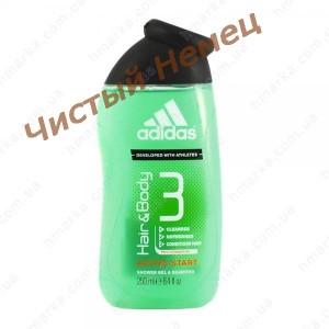 Adidas гель для душа Active Start. Hair&Body  250 мл.