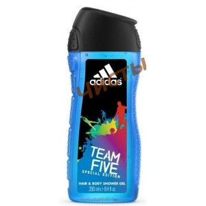 Adidas TEAM FIVE,Гель для душа & шампунь   400мл