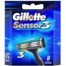 Картриджи Gillette Sensor 3  (8 шт)