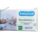 Babylove  детские салфетки (80 шт) mit Aloe Vera & Kamille -Extrakt Германия