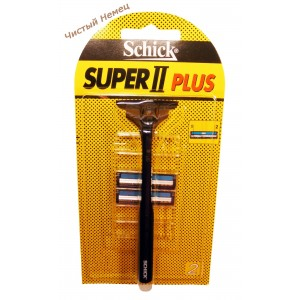 Schick станок для бритья super II plus (ст+ 2 зап)