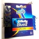 Станки для бритья одноразовые Gillette BLUE II Plus (5 штук) картон