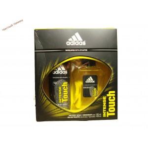Adidas набор в картонной коробке Туалетная вода 100 мл + Дезодорант-спрей Intense touch