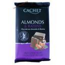 Cachet молочный шоколад премиум класса с миндалем и изюмом (300 гр.) Бельгия.