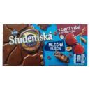 Studentska (180 гр) молочный шоколад со вкусом вишни Чехия