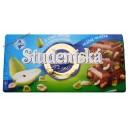 Шоколад Studentska Pacet молочный с грушей (180 гр.) Чехия