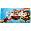 Шоколад Orion Studentska Duomix Zele a Rozinkami,белый и черный с изюмом и орешками (180 гр) Чехия