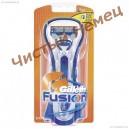 Gillette Fusion бритвенный станок на подставке с двумя картриджами. Колумбия