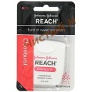 Jonson`s & Jonson`s Reach Зубная нить Cleanburst Cinnamon Waxed Floss (55 метров) USA