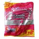 Wilkinson Schick Sword Extra-2 Precision Станки одноразовые женские (5+2 шт) Великобритания