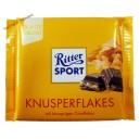 Ritter Sport Knusperflakes молочный шоколад с кремово-шоколадной начинкой и кукурузными хлопьями (100 мл) Германия