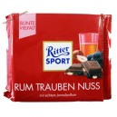 Ritter Sport Rum Trauben Nuss Шоколад  молочный с орехом, изюмом и ромом (100 гр) Германия