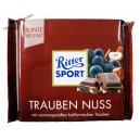 Ritter Sport Trauben Nuss натуральный молочный шоколад с изюмом и кусочками фундука (100 гр) Германия