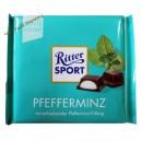 Ritter Sport Темный шоколад с мятой (100 мл) Германия