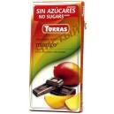 Torras,Шоколад черный с манго без глютена (75 грамм) Испания