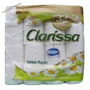 "Clarissa Chamomile Premium,Туалетная бумага трехслойная ""Ромашка"" (32 рулона) Венгрия"