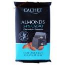 Cachet шоколад черный с миндалем 54 % (300 гр) Бельгия