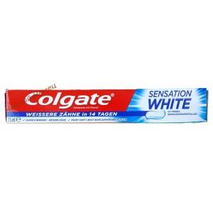 Colgate зубная паста с максимальным отбеливанием Sensation White коробочка (75 мл.) Германия