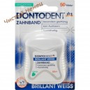 Dontodent зубная нить отбеливающая Brilliant Weiss Zahnband (50 m) Германия