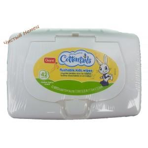Cottontails очищающие детские салфетки из хлопка с ароматом дыни (42 шт) USA