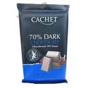 Cachet черный шоколад  70 % какао (300 гр) Бельгия