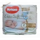 Huggies позгузн. элитсофт 2 (4-6 кг) 27 шт Elite Soft