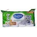 Queen туалетная бумага 3 сл (8 шт)