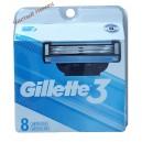 Gillette 3 картриджи для бритья (8) USA